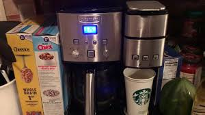 Turn on your cuisinart coffee machine and press the cleaning button. Reset Clean Light On Cuisinart Coffee Maker Youtube