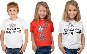 Kindershirt Tier Sprüche Lustiges Katzen Motiv T Shirt Kinder