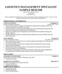 Shipping Specialist Cover Letter in Logistics Management Specialist Resume