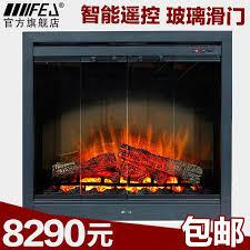fu er jia european electric fireplace electric fireplace heater core 05 glass sliding door upscale home