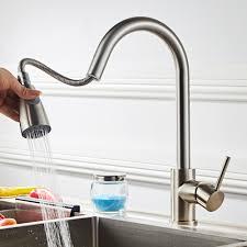Ubesgoo Kitchen Faucet Single Handle Pull Down Sprayer Kitchen