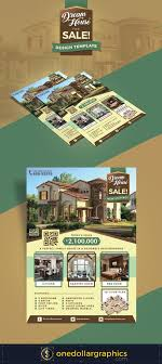 premium real estate house for flyer design template
