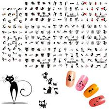 Ногтей <b>декоративные наклейки</b> кошки ногтей ногтей искусство ...