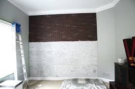 awesome faux painted brick wall idea covering decorative panels interior walls fake