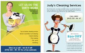 Cleaning Service Templates How To Make Flyers In Microsoft Word With Free Templates