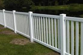 AFSCO Fence amp Deck White Vinyl Picket Fencing With