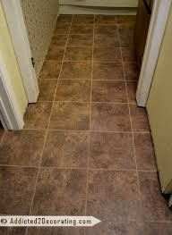 bathroom makeover new groutable l and stick vinyl tile flooring