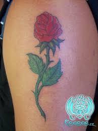 Tetování Růže Květy Rostliny Motýlibody Art Kerere Tetování