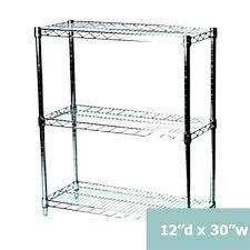 12 inch deep metal shelving unit shelves wall shelf floating set of 3 wire