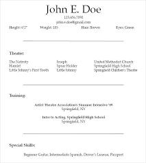 Variety Performing Artist Template Arts Resume Series