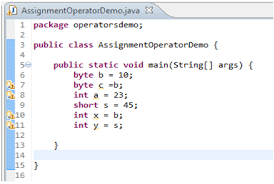 java assignment operators wresource assignment operator image 2