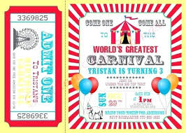 Circus Theme Invitation Circus Theme Invitation Party Invitations Free Template Cafe322 Com