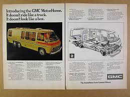 gmc motorhome io 1973 gmc motorhome rv introducing photo cutaway diagram vintage print ad