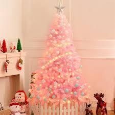 Blossom Christmas Tree With Led Lights Us 7 02 35 Off 1 2m Cherry Blossom Pink Christmas Tree Decoration Deluxe Encrypted Christmas Tree Gifts With Led Lights Colorful Ball Set On