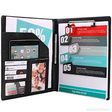 Plinrise Fashion Design Pu Leather Pad Folio Resume Portfolio
