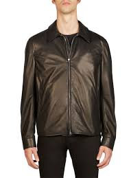 acne studios lior leather jacket black men apparel coats jackets shearling