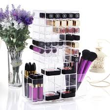 Lifewit Acrylic Makeup Organizer Cosmetic Storage Large Spinning Lipstick  Tower