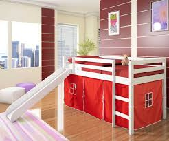 cool bunk beds with slides. Baby Nursery: Likable Childrens Bunk Bed Slide Decormagz Modern White Kids Low Loft Red Tent Cool Beds With Slides