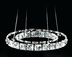 crystal lights chandelier promotion ring crystal chandelier lighting deluxe led round 1 layer crystal pendant lamp crystal lights chandelier