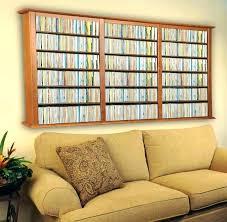 decoration wall mount shelf storage mounted cd rack