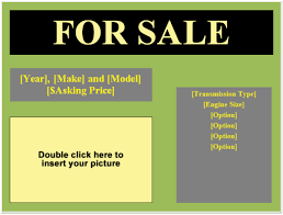 For Sale Flyer Template Easy Way To Advertise Your Selling