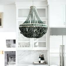 chandeliers wooden bead chandelier studio as shown size x h inches black uk