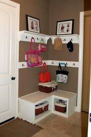 Corner Cubby Bench Coat Rack Shop Tools Woodworking Diy coat rack Coat racks and Coat rack bench 86