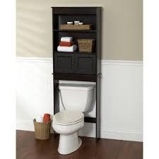 Espresso Bathroom Shelf Space Saver