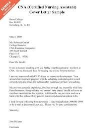 Assistant Cover Letter Sample Cna Cover Letter Cna Certified Nursing Assistant Cover Letter Sample