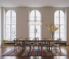 light linear dining room chandeliers table two regarding intended for chandelier for long table