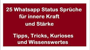 25 Whatsapp Status Sprüche Zum Nachdenken Sowie Für Innere Kraft
