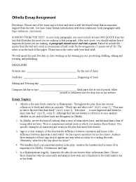 othello essay assignment iago essays