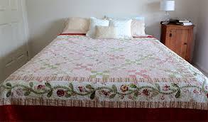 Handmade Bed Quilt - King/Queen Bed Quilt - Vintage Rose - Bedding ... & Handmade Bed Quilt - King/Queen Bed Quilt - Vintage Rose - Bedding -  Patchwork ... Adamdwight.com