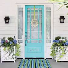 turquoise front door8 Fabulous Colors for Front Doors for a Standout Entry