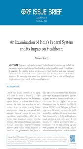 an examination of s federal system and its impact on an examination of s federal system and its impact on healthcare orf