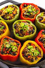beef   baked beans stuffed bell peppers