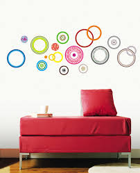 color circle stickers on self adhesive wall art stickers with color circle stickers for walls and windows wallstickery
