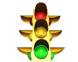 Red Light Graphic Traffic Light With Red Green And Yellow Lights Stock Photo