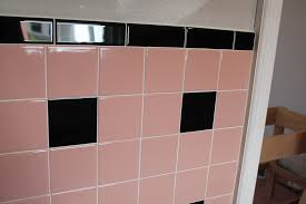 laundry room renovation pink tiles