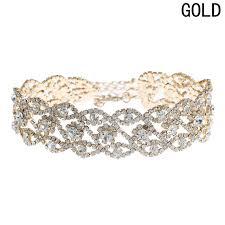 Online Shop Fashion <b>Luxury</b> Full <b>Big Rhinestone</b> choker <b>Crystal</b> ...