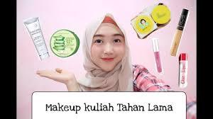 makeup kuliah tahan lama khusus untuk pemula super simple