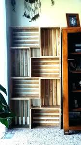 wood crate shelves wood crate bookshelves wood crate bookcase crate bookshelf full size of staggered bookshelf