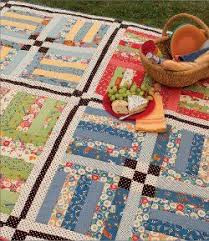 Rail Fence Picnic Quilt | Rail fence, Picnic quilt and Fences & Rail Fence Picnic #Quilt pattern by Barbara Brandenburg and Teri  Christopherson for Martingale Adamdwight.com