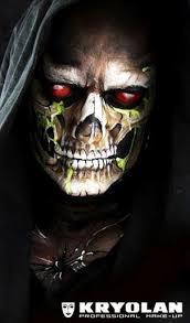 grim reaper skull makeup
