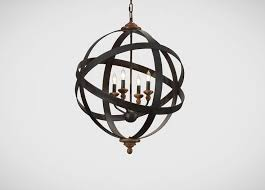 four light armillary chandelier ethan allen us in a smaller scale for the garage entry