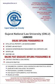 gnlu s online diploma pg diploma courses limited seats  inr 19500 per postgraduate diploma programme