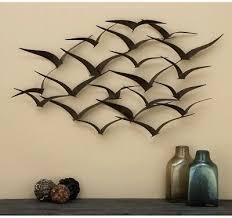 flock of birds metal wall art sculpture