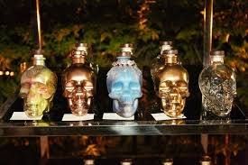 guests at the crystal head aurora launch event decorated their own bottles