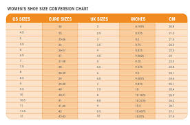 Unfolded Conversion Chart For Men And Womens Sock Size 2019