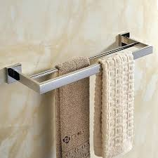 modern bathroom towel bars. Modern Bathroom Towel Bars Contemporary Stainless Steel Fashion Pure Rack Length Double Bar In T . H